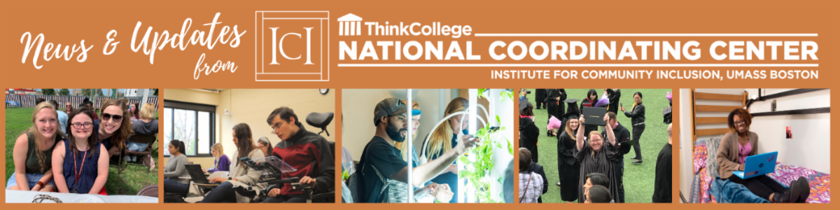 Banner for the NCC newsletter. Includes the NCC logo and photos of students at graduation, a student in a dorm room, and students sitting together at lunch.
