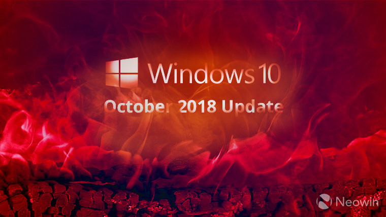 The Windows 10 October 2018 update fixed blue screen of issue