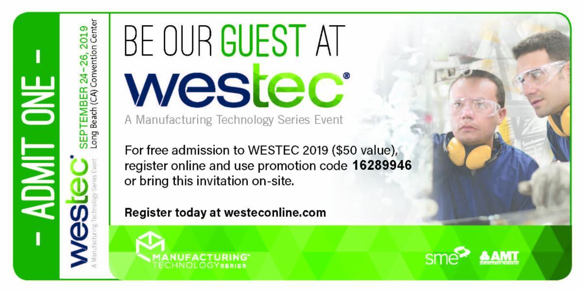 WESTEC Ticket