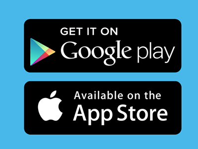 AVAILABLE ON THE GOOGLE PLAY AND APPLE APP STORES.