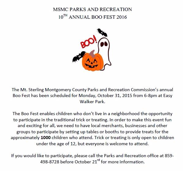 Fun Fall and Halloween Events in Mt. Sterling, KY!