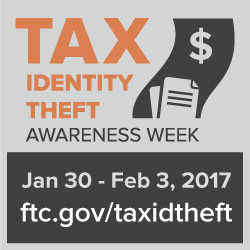 Logo for Tax Identity Theft Awareness Week