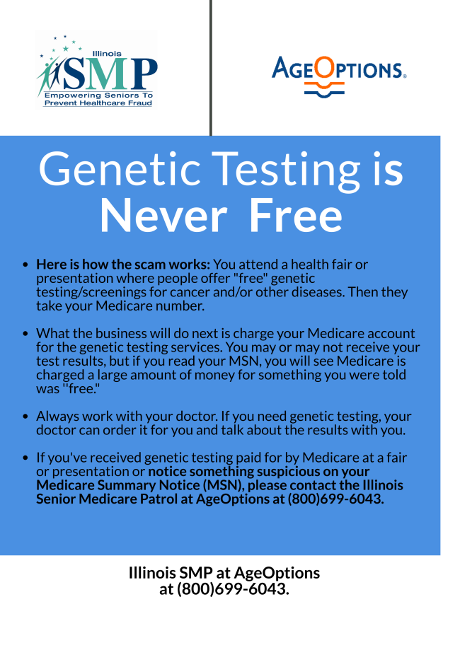 A screenshot of the SMP genetic testing tip sheet