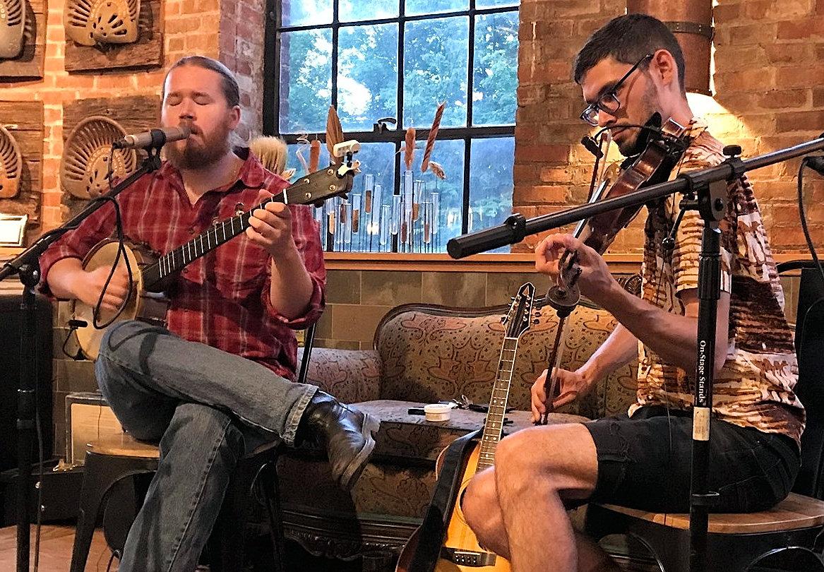 Tern Matthew Christian and Max Carmichael banjo