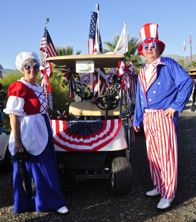 Uncle Sam and Betsy Ross at The Borrego Cup