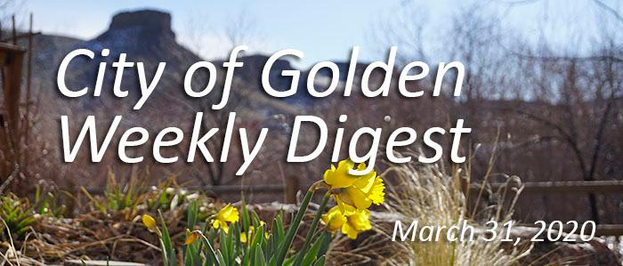 Weekly Digest March 31 2020
