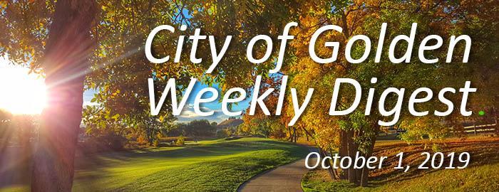 Weekly Digest October 1 2019