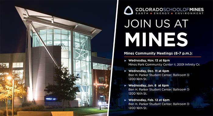 Mines Community Meetings