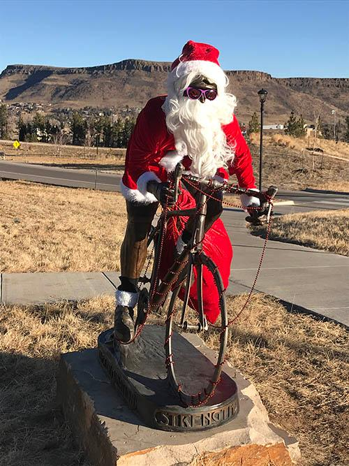 Santa on two wheels
