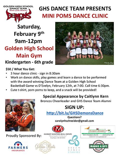 Mini Poms Clinic Flyer
