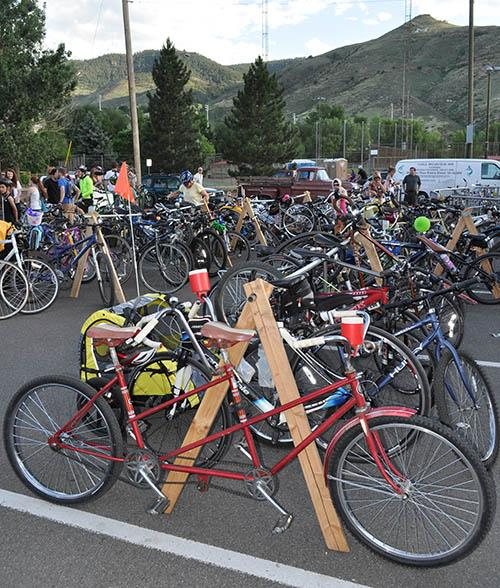 Bike cruise bicycle racks
