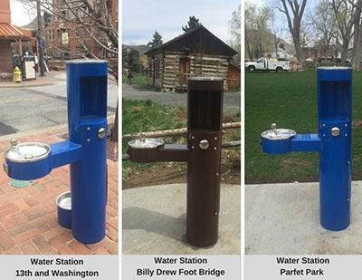 New downtown water stations