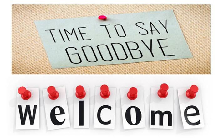goodbye and welcome