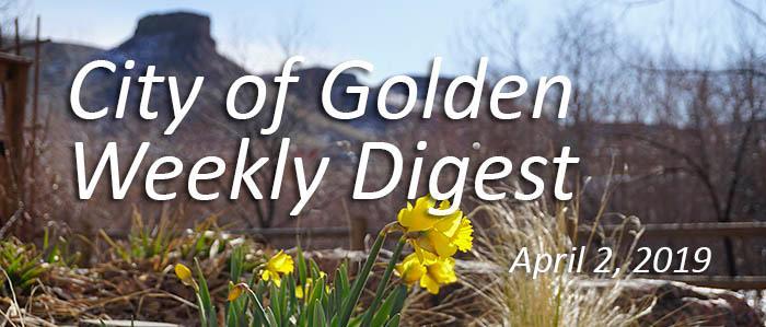 April 2 2019 Weekly Digest