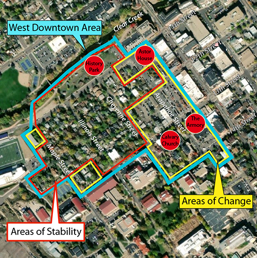 West Downtown Areas of Change