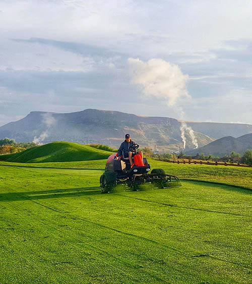 mowing Fossil Trace