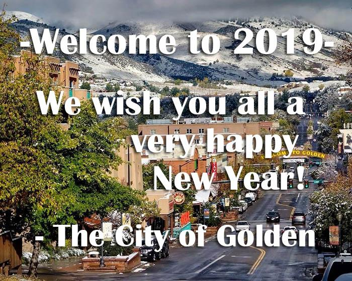 Happy New Year from the City of Golden