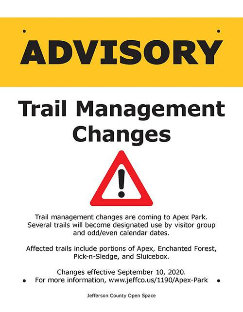 Apex Park Advisory Sign