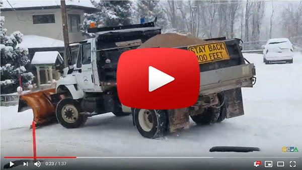 Snow Plow Ride along video