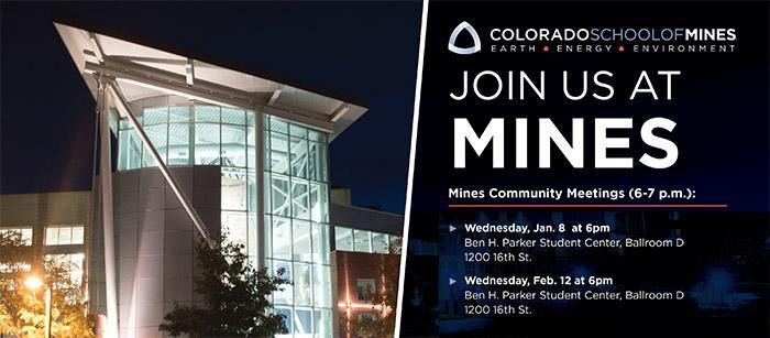 Mines Community Meetings in 2020