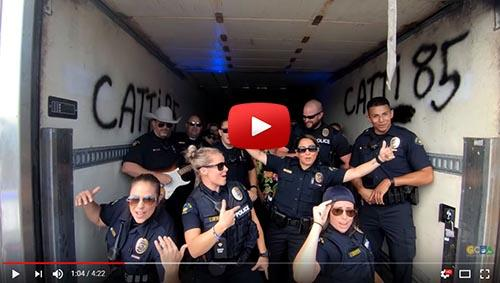 Police lip synch challenge