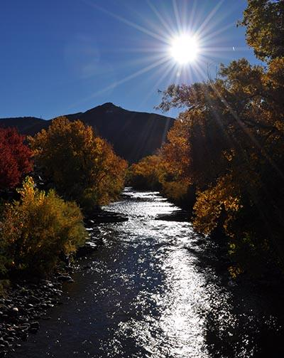 Clear fall day on Clear Creek