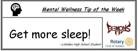 get more sleep mental wellness tip