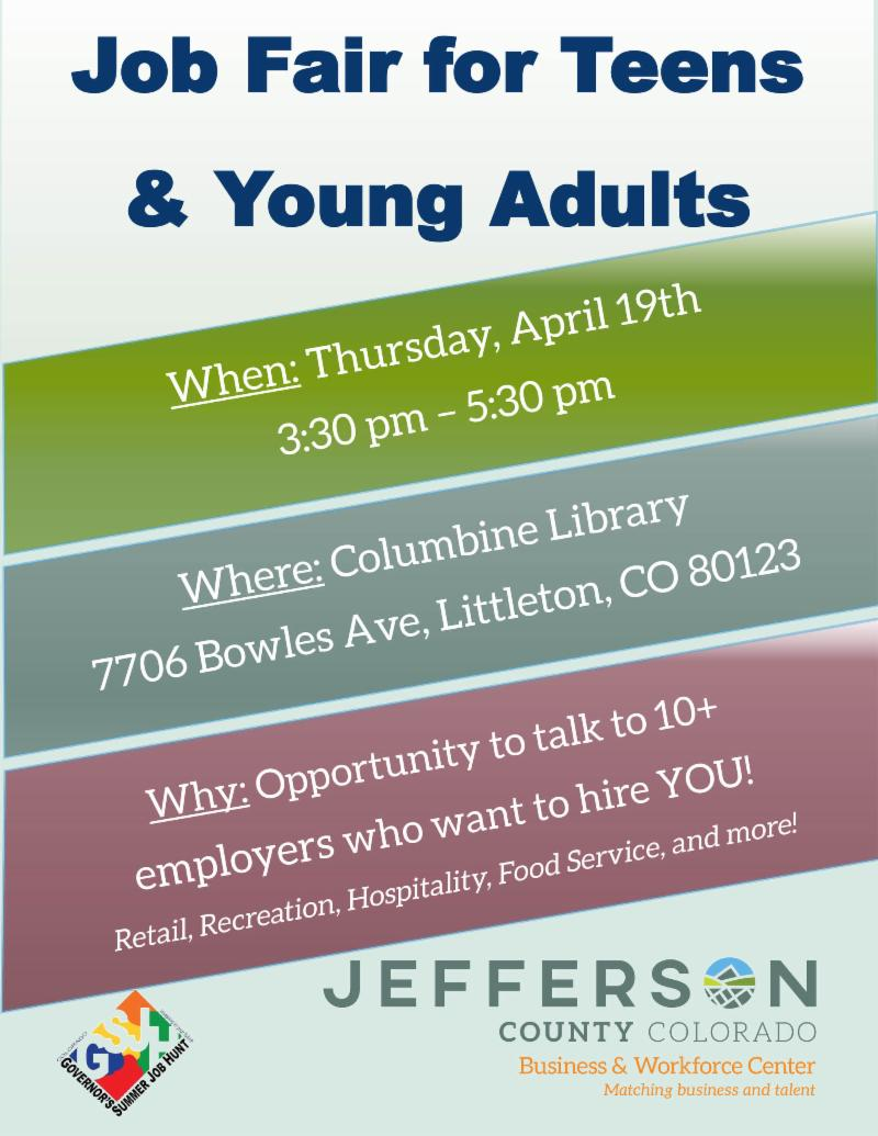 Job Fair for Young Adults and Teens