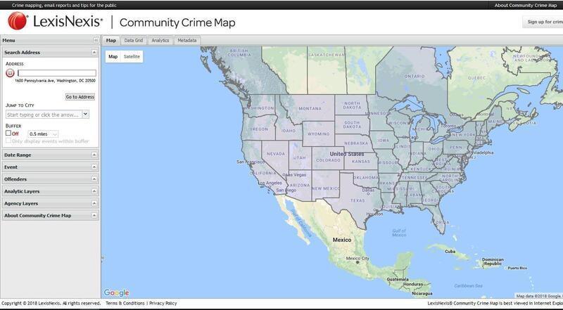 Lexis Nexis Golden Crime Map