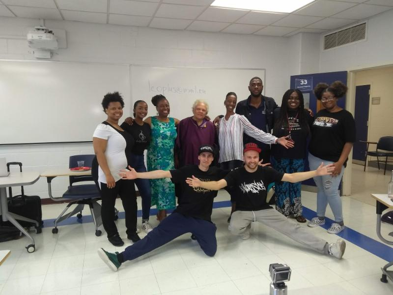 Russian Hip Hop Artists and Dr. Herron's class.