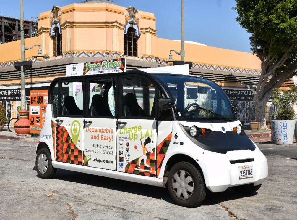 Image of a shuttle bus
