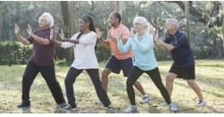adults doing tai chi