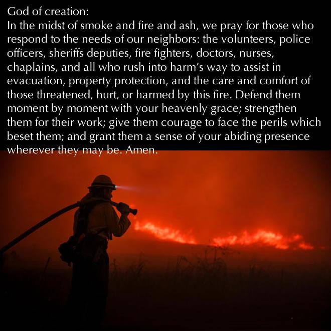 A prayer for those responding to fire