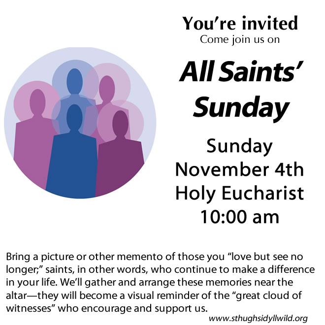 Come to All Saints' Sunday Celebration