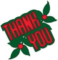 Thank you Christmas Holly