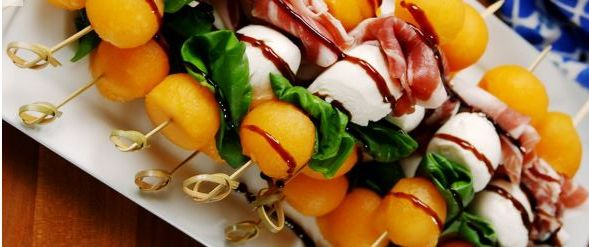 Melon and Pros Skewers