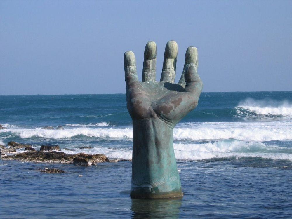 Hand in Ocean