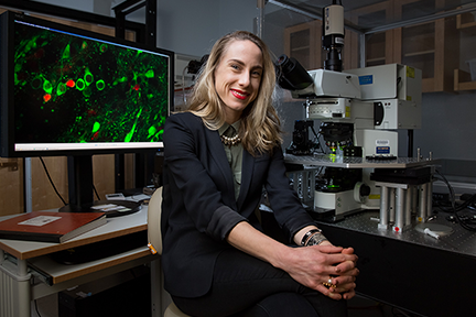 Polina Anikeeva was born in St. Petersburg, Russia, then known as Leningrad, where two inspiring scientists helped propel her toward a career at MIT. She develops materials to help researchers probe the mysteries of the brain. Image, Bryce Vickmark.