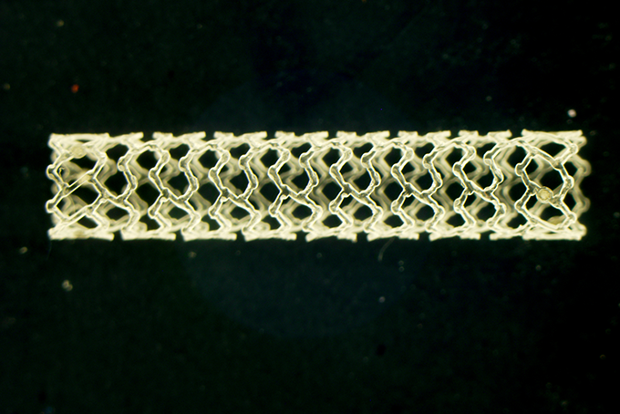 Researchers hope that their work will lead to a new approach to designing and evaluating polymer stents and other types of degradable medical devices. Image, Pei-Jiang Wang