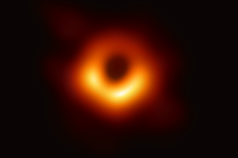 First direct image of a black hole captured by the multi-observatory Event Horizon Telescope. Image by EHT Collaboration