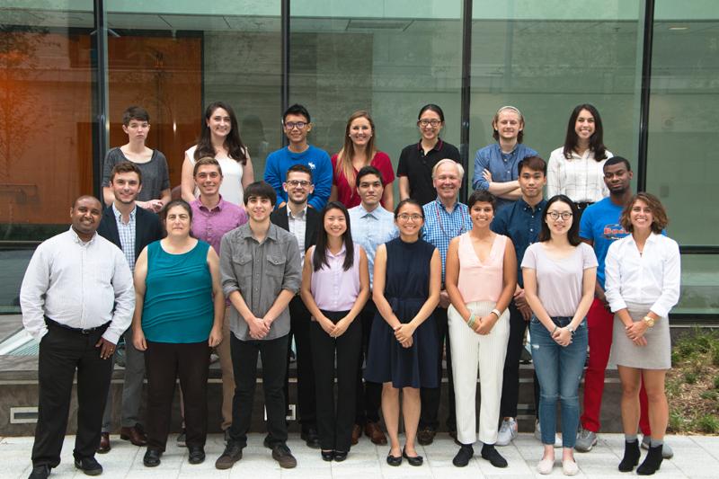 2018 Materials Research Laboratory summer interns.