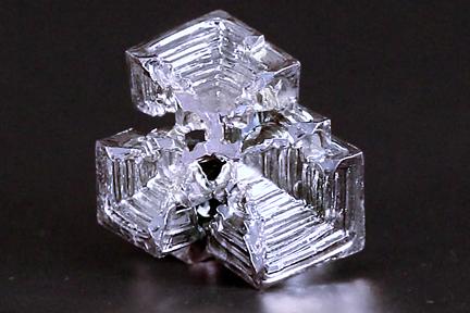 Bismuth crystal.
