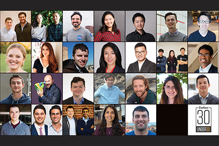 At least 30 MIT faculty, research staff, and alumni are listed throughout Forbes' seventh annual 30 Under 30 edition, featuring some of the world's best young innovators.