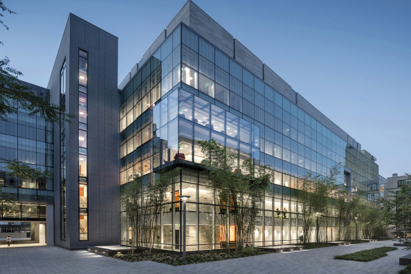 The MIT.nano building that is  located in the heart of the MIT campus. Wilson Architects photo.