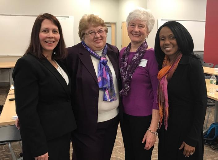Pictured Center right_ President Carol Ann Drick_ PhD_ RN_ AHN-BC_  to her left Dr. Linda Lewandiwski_ PhD_ RN_ FAAN