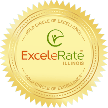 ExceleRate Illinois Gold Circle of Excellence seal