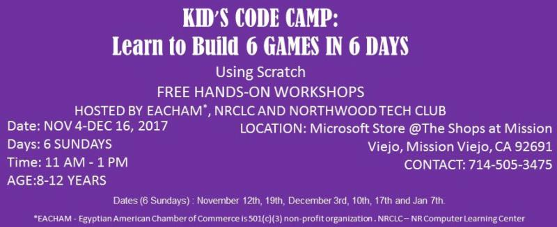 Free Kid's Code Camp @Microsoft Store in Mission Viejo (6