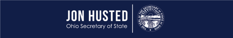 Image is logo with Jon Husteds name in bold letters with Secretary of State written directly beneath and the seal of the Secretary of State directly to the right.