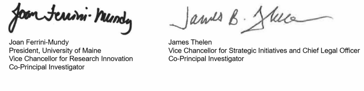 Co-Signatures graphic image Ferrini-Mundy and Thelen