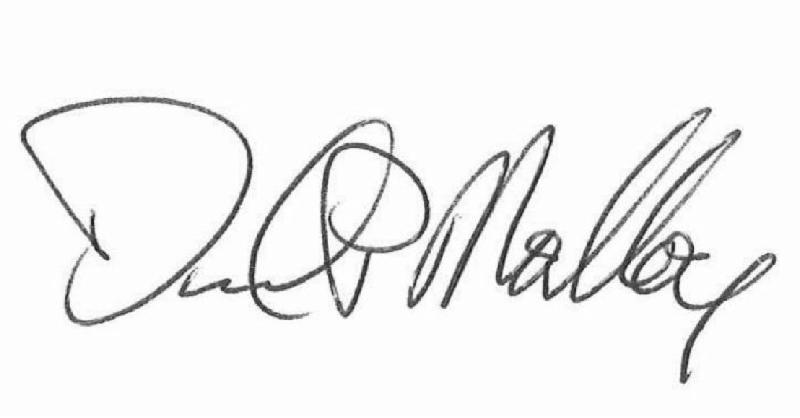 Chancellor Malloy signature graphic